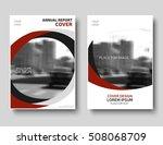 red creative brochure template. ... | Shutterstock .eps vector #508068709