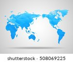 world map. low poly design.... | Shutterstock . vector #508069225