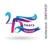 45th years anniversary... | Shutterstock .eps vector #508076929