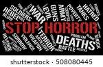 stop horror word cloud concept. ... | Shutterstock . vector #508080445