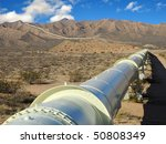 pipeline in the mojave desert | Shutterstock . vector #50808349