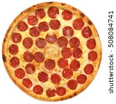 tasty  flavorful pizza isolated ... | Shutterstock . vector #508084741