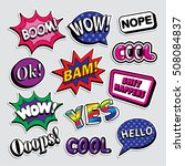 fashion patch badges in 80s 90s ... | Shutterstock .eps vector #508084837