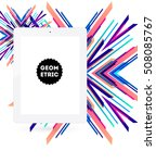 tablet pc icon with geometric...   Shutterstock .eps vector #508085767