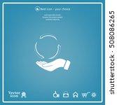 circular arrows on hand icon ... | Shutterstock .eps vector #508086265