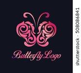 butterfly logo | Shutterstock .eps vector #508086841