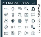 set of 25 universal editable... | Shutterstock .eps vector #508087861