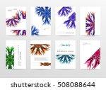 geometric background template... | Shutterstock .eps vector #508088644