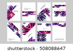 geometric background template... | Shutterstock .eps vector #508088647