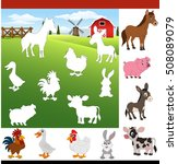farm animals. find the correct ... | Shutterstock .eps vector #508089079