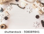 cute vintage christmas new year ... | Shutterstock . vector #508089841