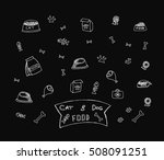 cats   dogs food.vector black... | Shutterstock .eps vector #508091251