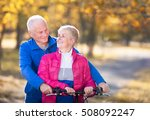 senior couple outdoors | Shutterstock . vector #508092247