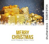 christmas background with... | Shutterstock . vector #508093954