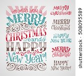vector set of holidays... | Shutterstock .eps vector #508095589