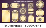 big set of laser cut template.... | Shutterstock .eps vector #508097545