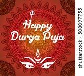 indian happy durga puja... | Shutterstock .eps vector #508097755