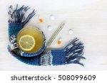 tea with lemon in a transparent ... | Shutterstock . vector #508099609