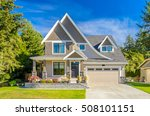 luxury house at sunny day in... | Shutterstock . vector #508101151