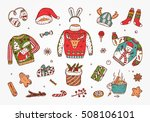 ugly christmas sweater party.... | Shutterstock .eps vector #508106101