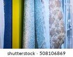 sample fabrics hanging on the... | Shutterstock . vector #508106869