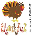 thankful turkey | Shutterstock .eps vector #508107907