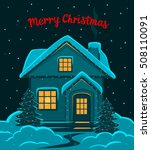 happy new year  merry christmas ... | Shutterstock .eps vector #508110091