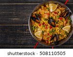 Paella With Chicken   Seafood ...