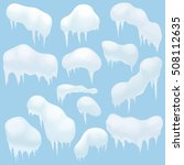 snow elements  snow caps ... | Shutterstock .eps vector #508112635