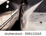 closeup of washing car with... | Shutterstock . vector #508113265