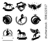 horse labels and elements set.... | Shutterstock .eps vector #508122517