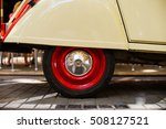 close up of wheel tyres of red... | Shutterstock . vector #508127521