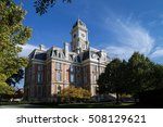 The courthouse from the small town of Noblesville Indiana a midwestern suburb of Indianapolis