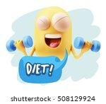 3d illustration gym fitness... | Shutterstock . vector #508129924
