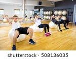 abdominal group training for... | Shutterstock . vector #508136035