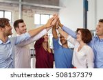 motivated young business team... | Shutterstock . vector #508137379