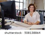 dedicated young businesswoman... | Shutterstock . vector #508138864