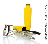 mascara and eyelash curlers... | Shutterstock . vector #508140277