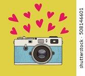 vector illustration of a retro... | Shutterstock .eps vector #508146601