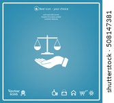 illustration of a hand holding... | Shutterstock .eps vector #508147381