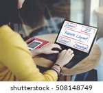 web design domain seo words | Shutterstock . vector #508148749