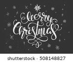 hand drawing christmas... | Shutterstock .eps vector #508148827