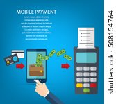 mobile payments. transaction...   Shutterstock .eps vector #508154764