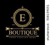 luxury logo template in vector... | Shutterstock .eps vector #508159051
