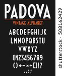 retro vintage alphabet with... | Shutterstock .eps vector #508162429
