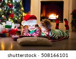 happy little kids in matching... | Shutterstock . vector #508166101
