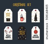 tags for christmas gifts.... | Shutterstock .eps vector #508168405