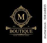 luxury logo template in vector...   Shutterstock .eps vector #508168855