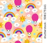 cute baby panda bear character... | Shutterstock .eps vector #508175161