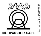 dishwasher safe symbol isolated.... | Shutterstock .eps vector #508175251